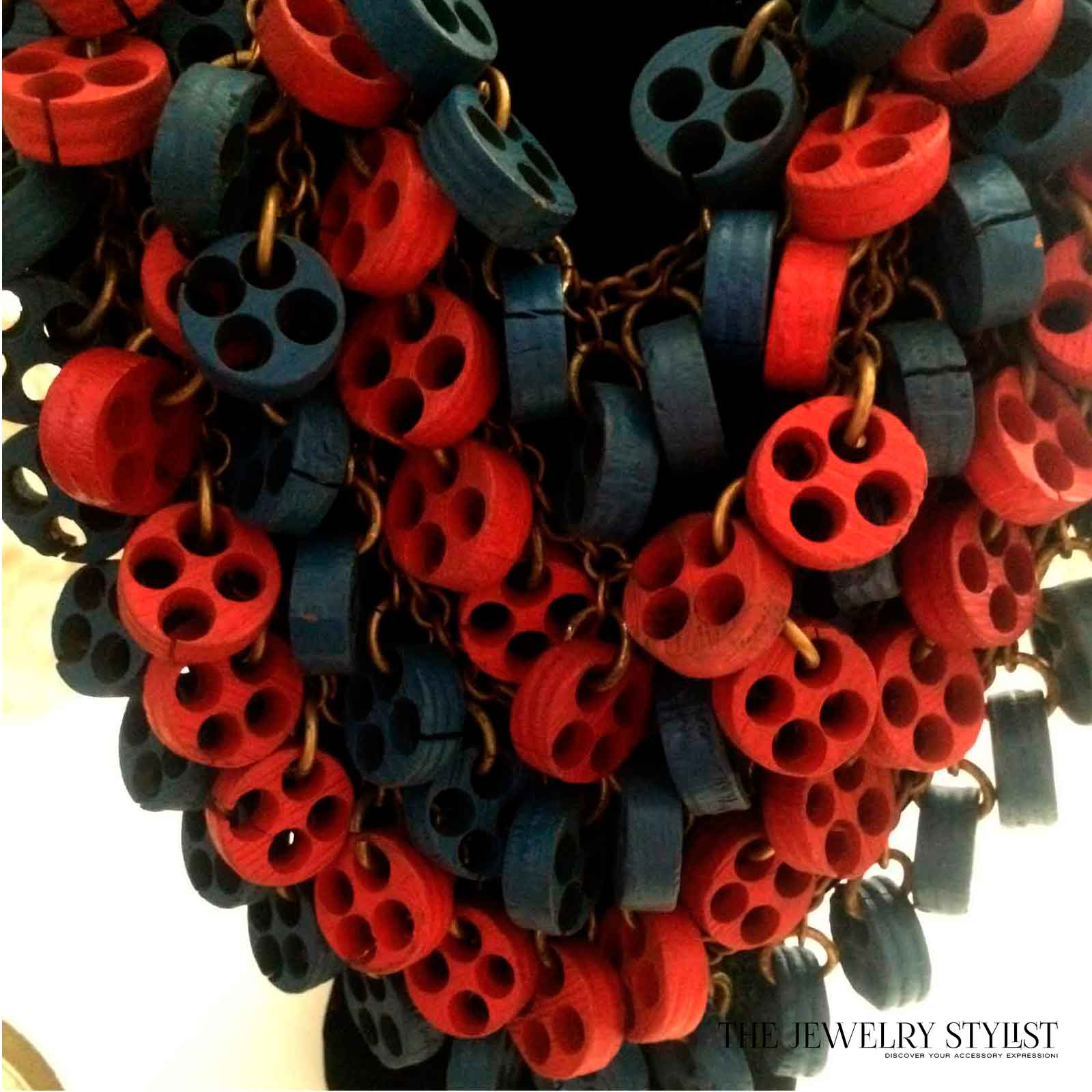 Huge 1930s Statement Necklace Miriam Haskell-esque Close-up