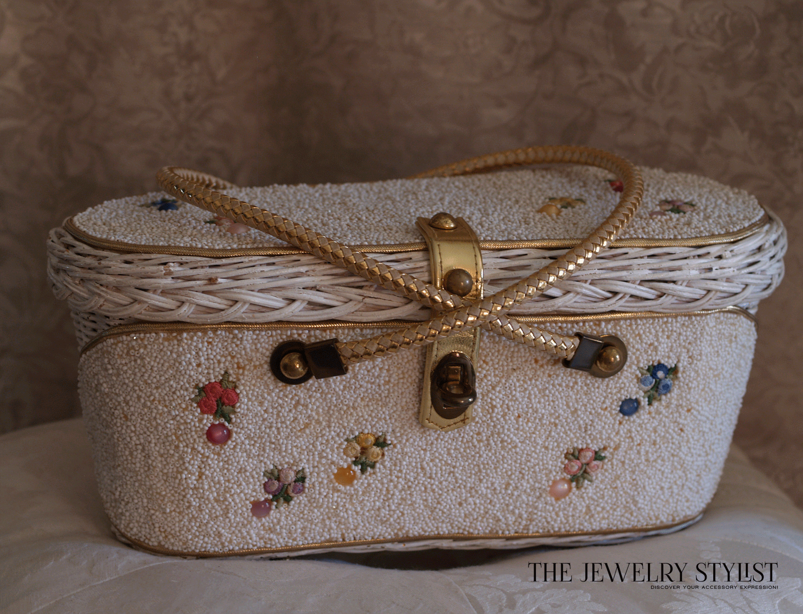 Vintage 1950s MIdas of Miami Beaded Box Purse