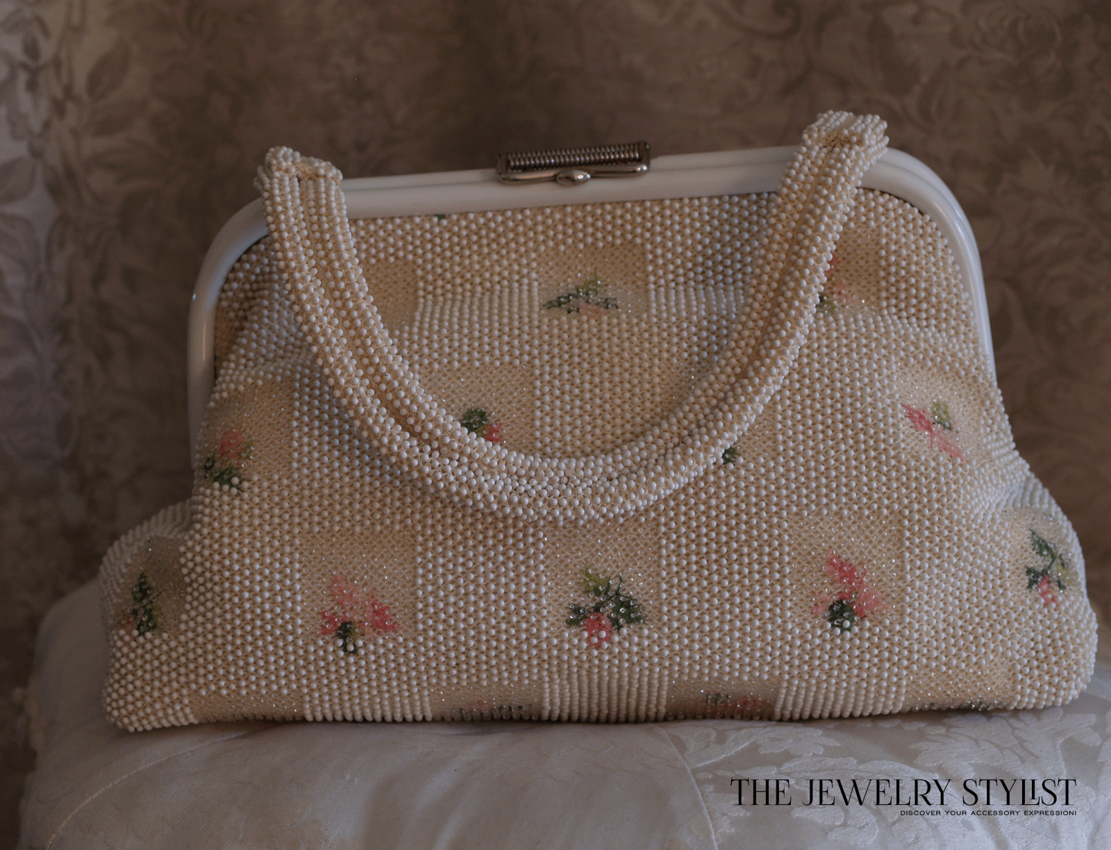 1960s Wonderful Reversible Beaded Summer Floral Purse