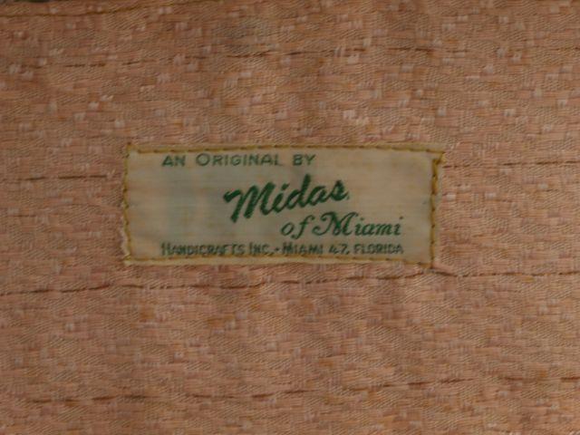 Vintage 1950s MIdas of Miami Beaded Box Purse Tag