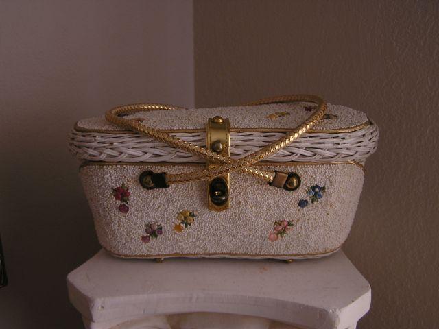 1950s Midas of Miami Vintage Beaded Box Purse