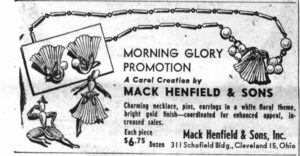 Mack Henfield and Sons Morning Glory Promotion WWD 19530403