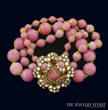 Miriam Haskell Frosted Bead Bracelet