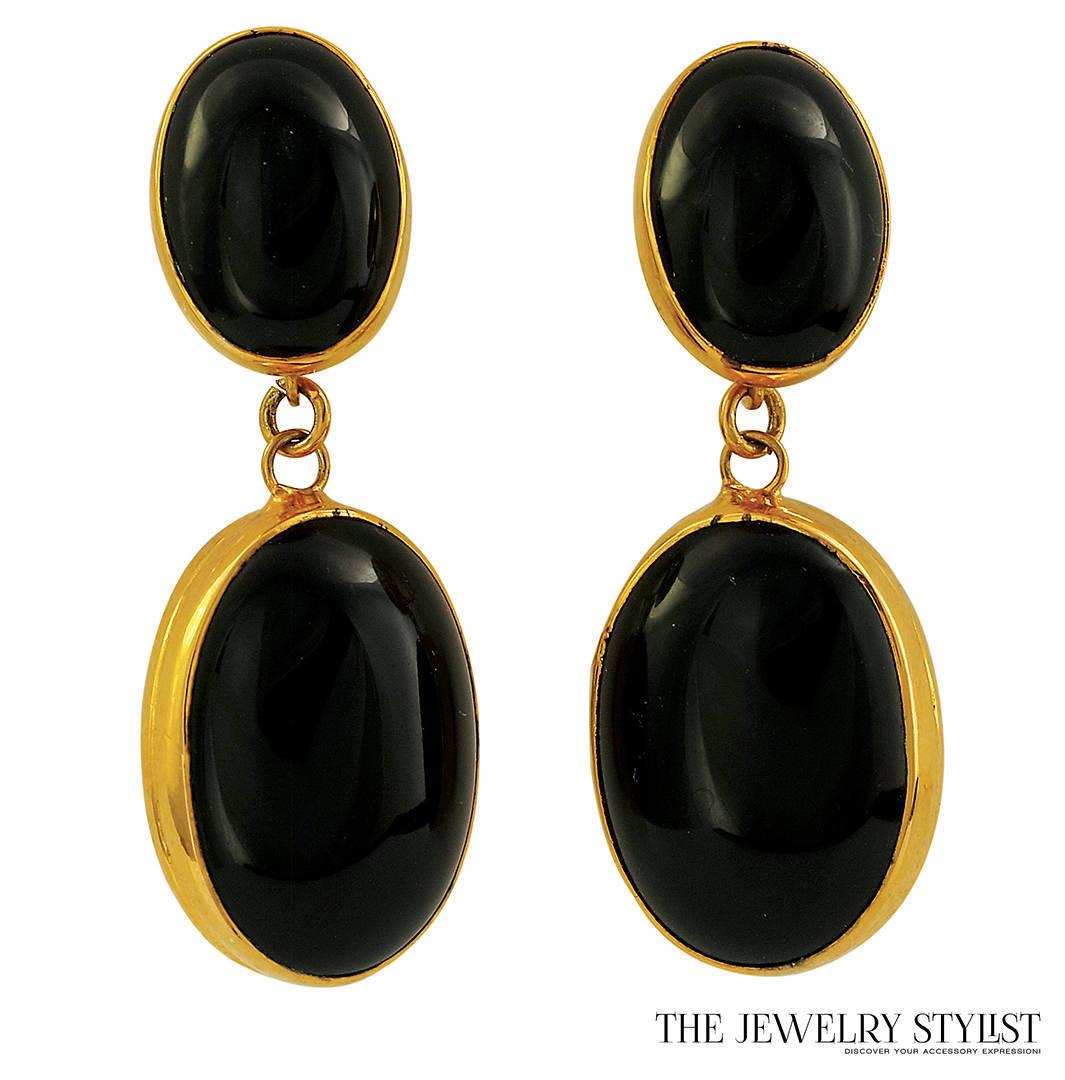 Large Vintage Resin Drop Earrings