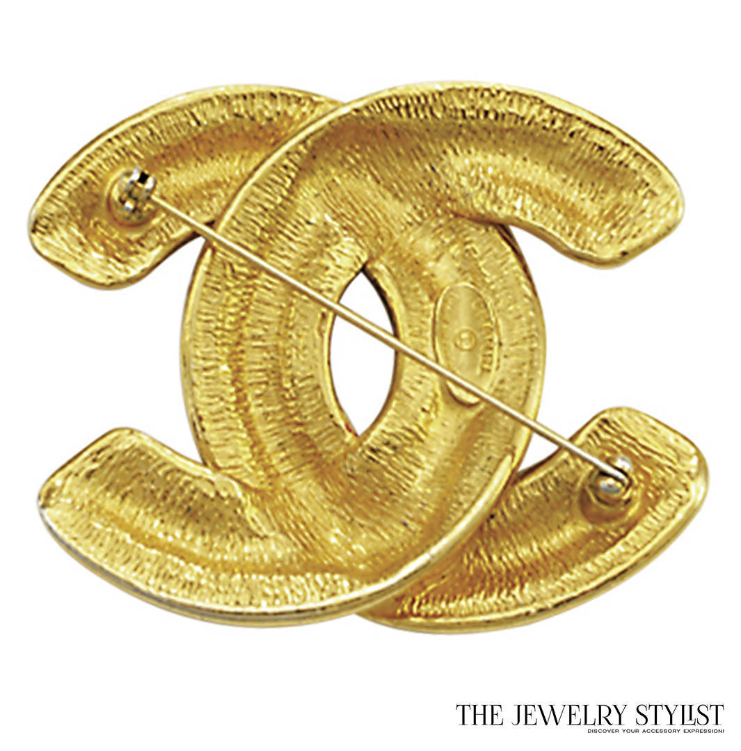 """Vintage Chanel Double """"C"""" Brooch Back View"""