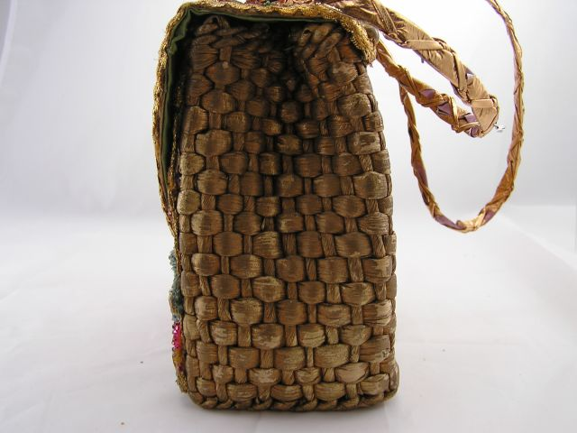 O1960s Midas of Miami Floral Purse Side View