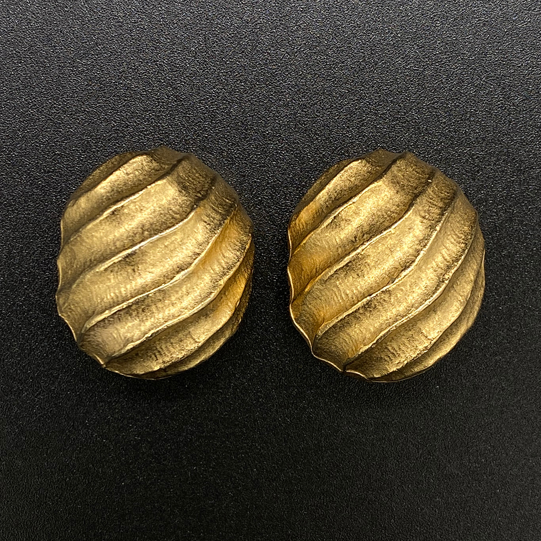 givenchy gold tone earrings