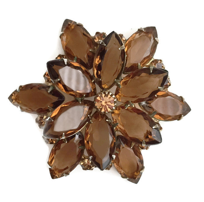 topaz-colored Brooch or Pin