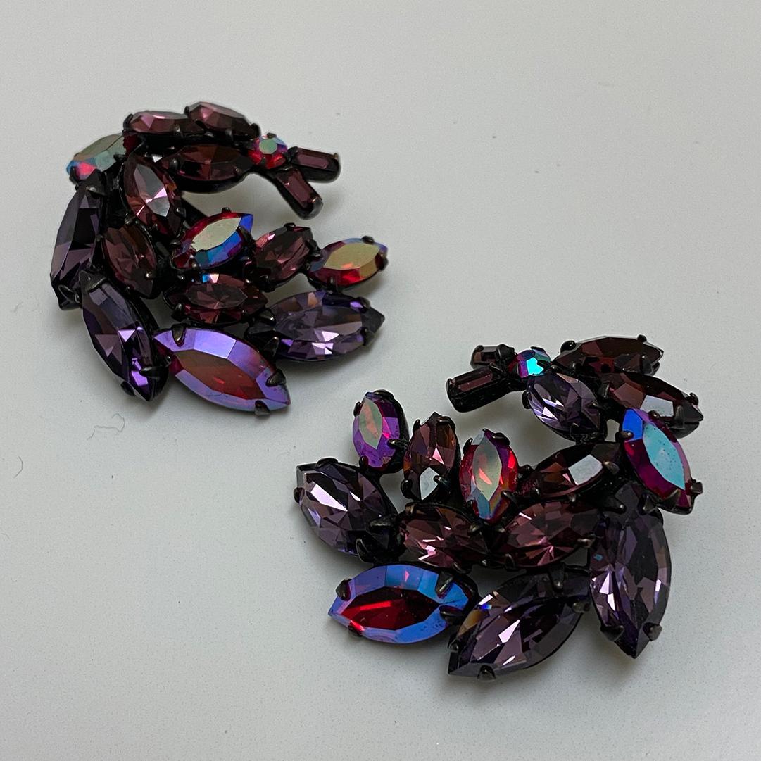 vintage Regency Japanned Earrings