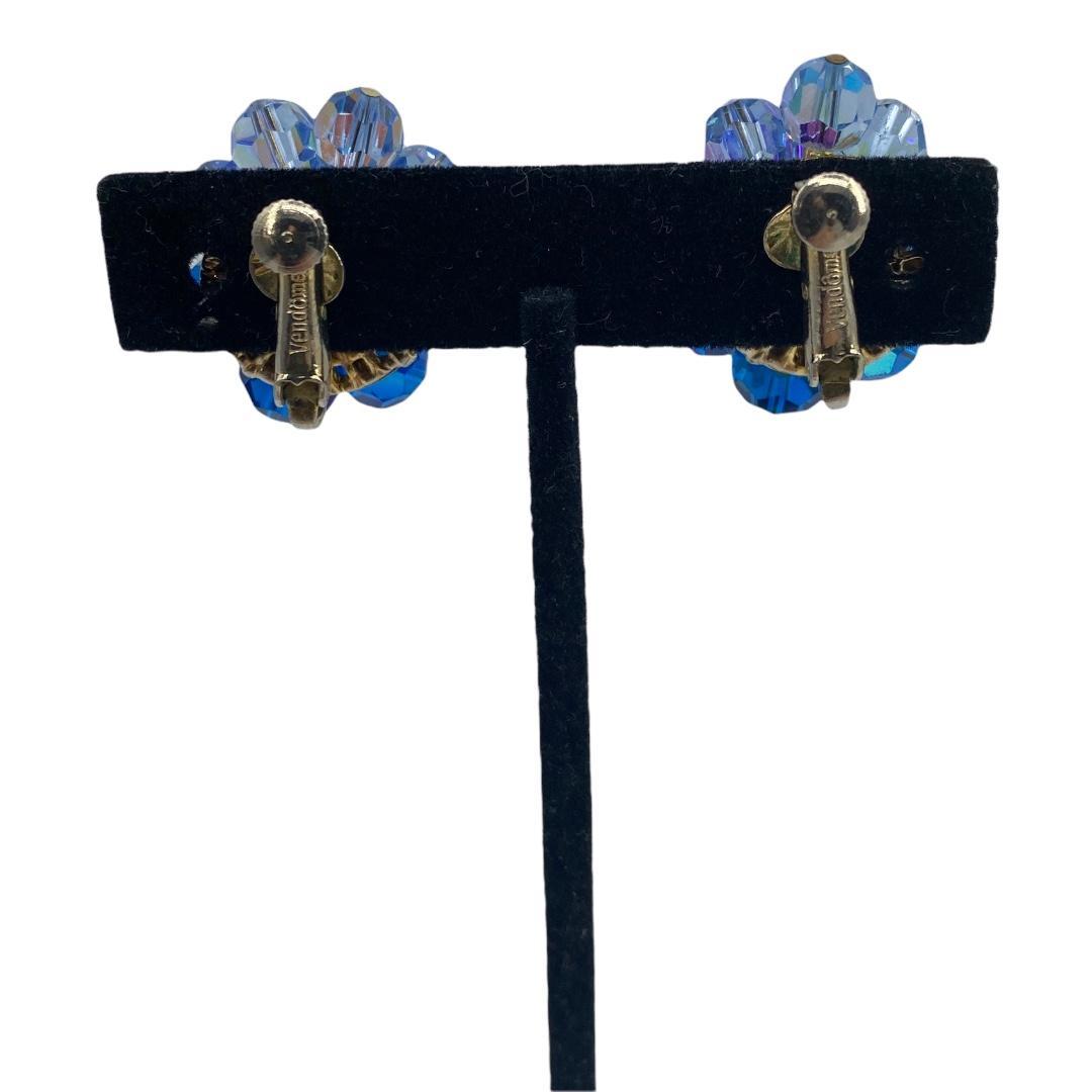 Vintage Blue Ombre Crystal Vendome Earrings