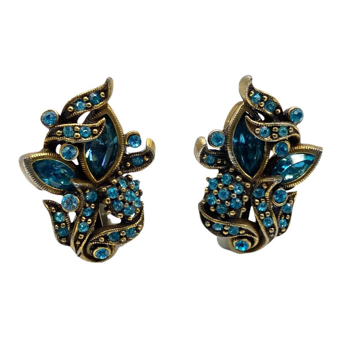 1950 Hollycraft Rhinestone Earrings