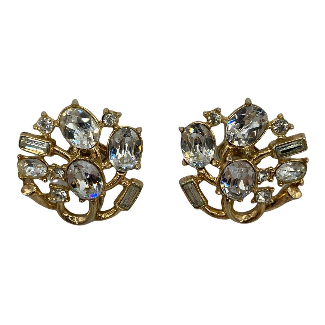 1950s Trifari Rhinestone Clip-back Earrings