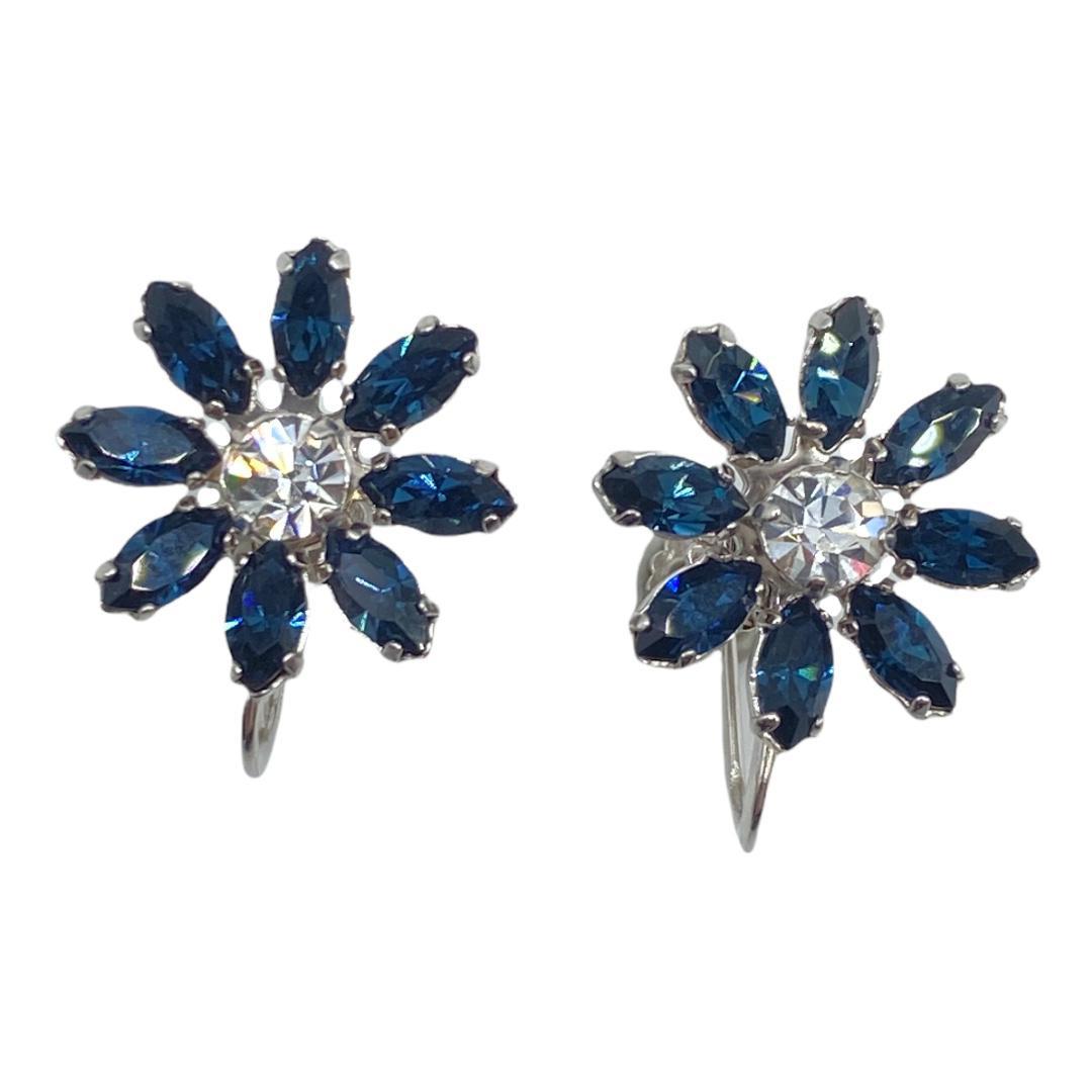 Krementz Sapphire-Colored Rhinestone Earrings